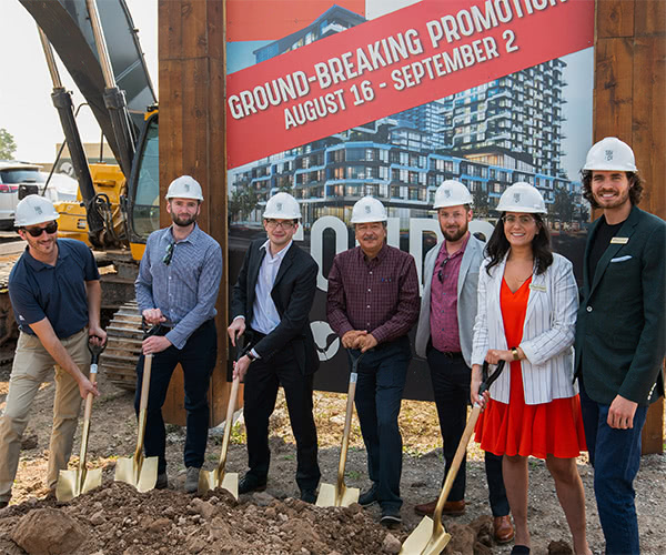 Ground Breaking at Oak and Co.